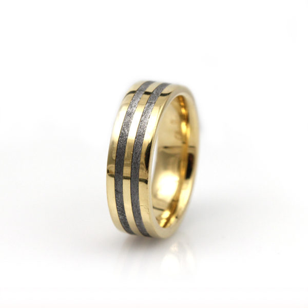"Chris Ploof 18K Yellow Gold & Meteorite ""Polaris"" Band"