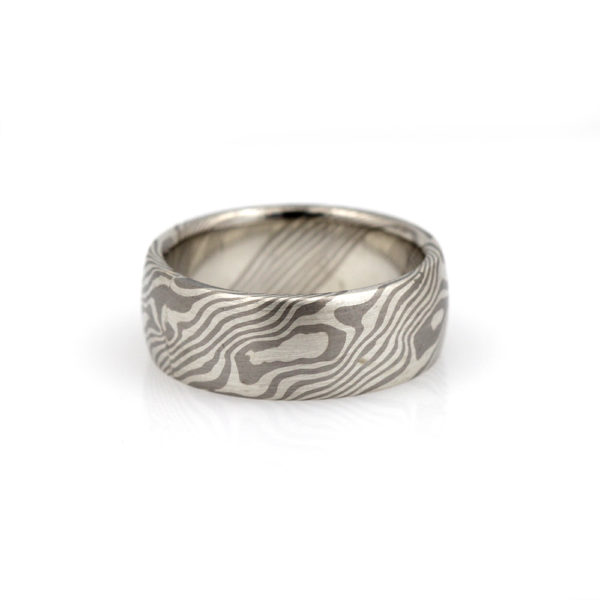 "Chris Ploof Palladium & Sterling Silver ""Maple"" Band"