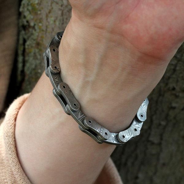 """Chris Ploof Damascus """"Links"""" Bracelet"""