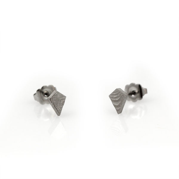 Chris Ploof Damascus Kite Stud Earrings