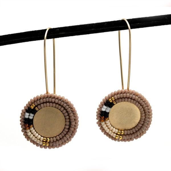"Cheyanne Symone Beaded Color Block ""Neutral"" Earrings"