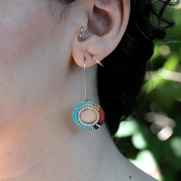 "Cheyanne Symone Beaded Color Block ""Two Spirit"" Earrings"
