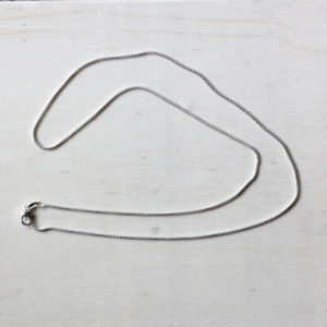 "Sterling Silver 20"" Round Box Chain"