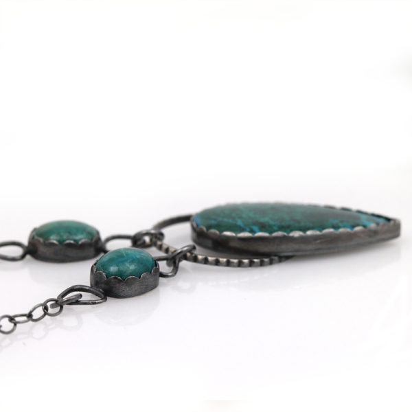 Natalie La Bruzzy Sterling Silver & Chrysocolla Necklace