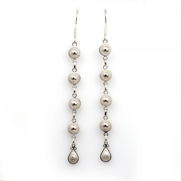 """Muxi Silver """"Circles"""" Earrings"""