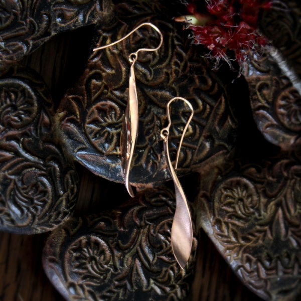 "Toby Pomeroy Eco Rose Gold ""Pod"" Earrings"