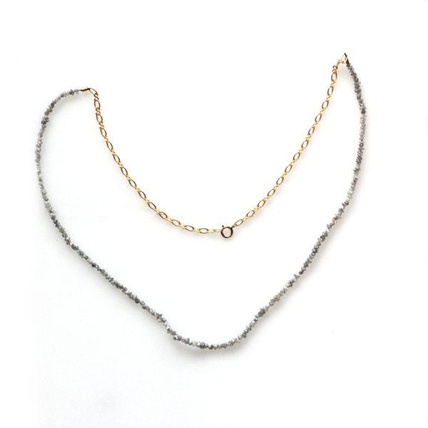 Arte*Vitta Yellow Gold Fill & Rough Diamond Necklace