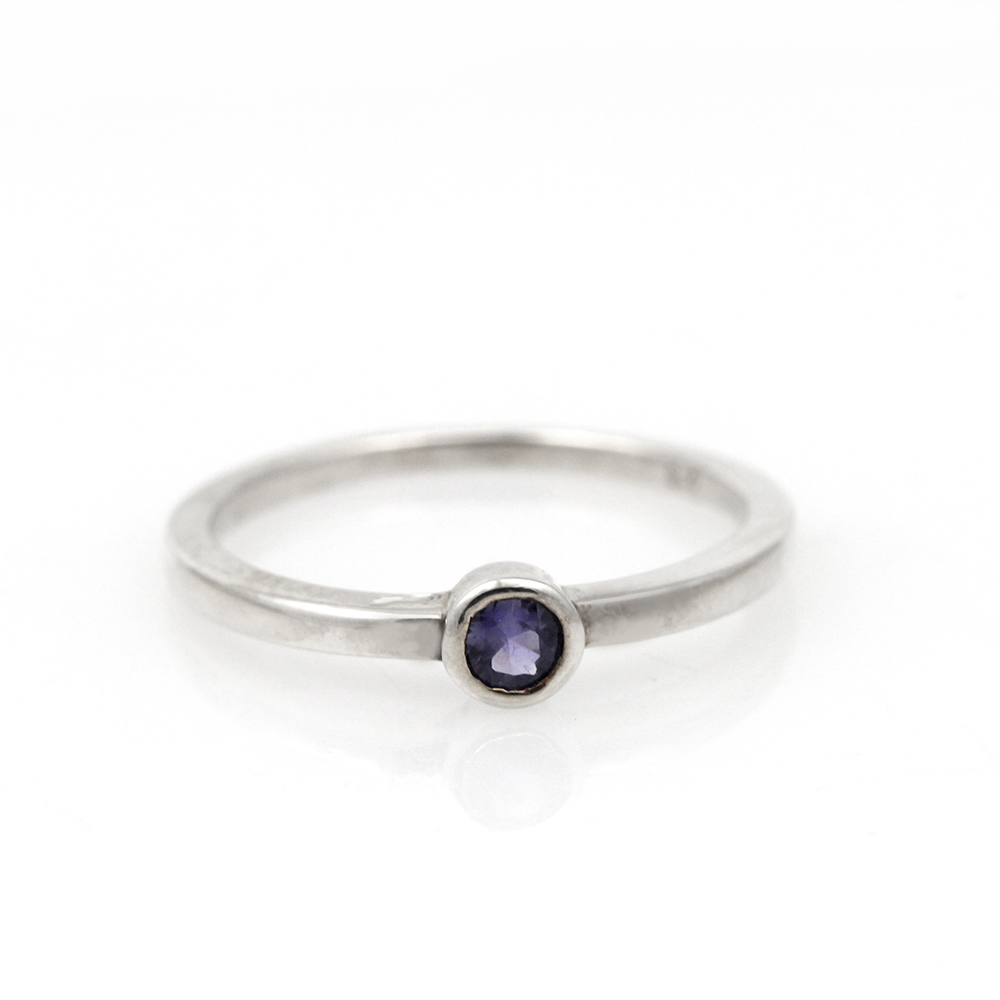 Sterling Silver /& Blue Sapphire Ring
