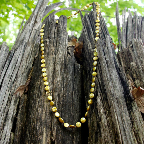 Barton Designs Chartreuse Freshwater Pearl Necklace