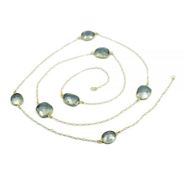 Barton Designs Yellow Gold Fill & Pyrite Necklace