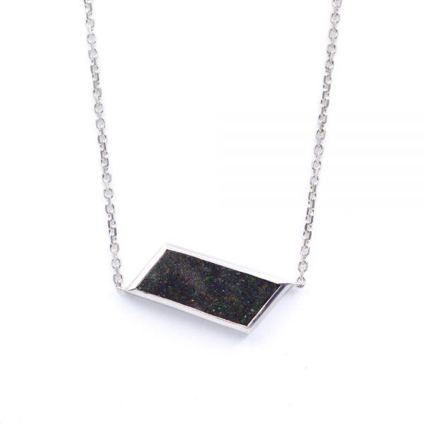 "Arte*Vitta Sterling Silver & Honduran Black Opal ""Starry Night"" Necklace"