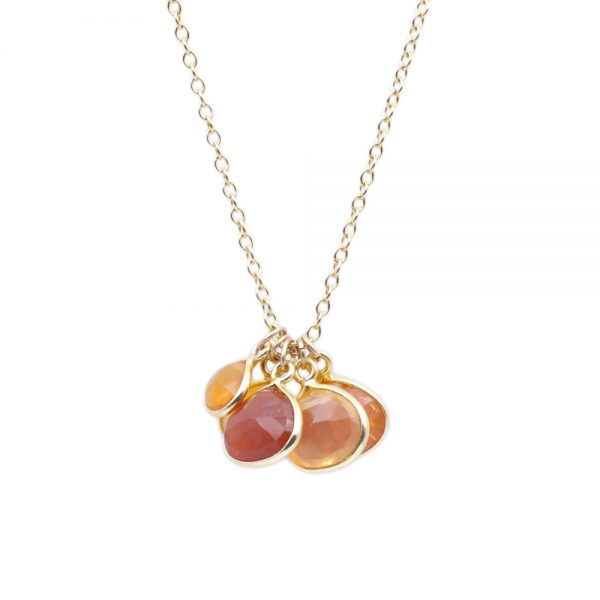 Barton Designs Gold Fill Fire Opal Necklace