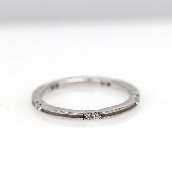 Arte*Vitta 14K White Gold & Diamond Stacking Ring