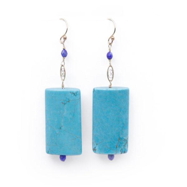 Natalie E.L. Zolg Howlite & Lapis Earrings