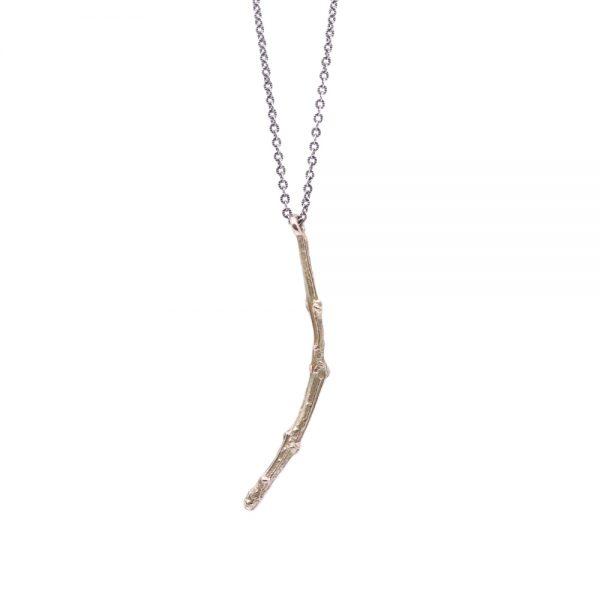 Pippa Jayne Designs Sterling Silver & 14K Gold Twig Necklace