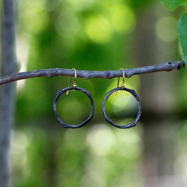Pippa Jayne Designs Sterling Silver Infinity Twig Earrings