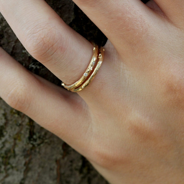 Pippa Jayne Designs 14K Yellow Gold Signature Skinny Twig Ring