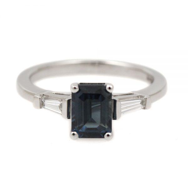Arte*Vitta 14K White Gold Sapphire & Diamond Ring