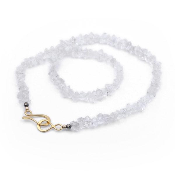Natalie E.L. Zolg Herkimer Diamond & Pyrite Necklace