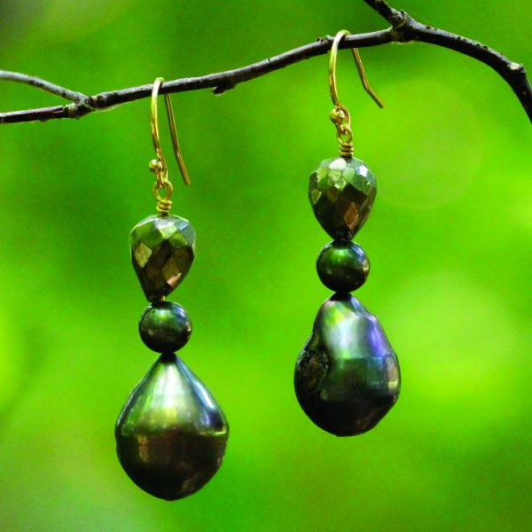 Barton Designs Hematite & Freshwater Pearl Earrings