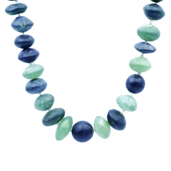 Barton Designs Sterling Silver & Jade Necklace