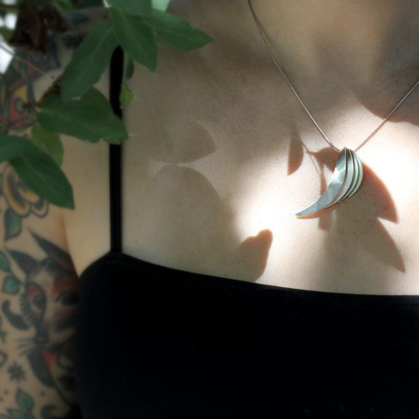 "Kelim Sterling Silver ""Wings"" Necklace"