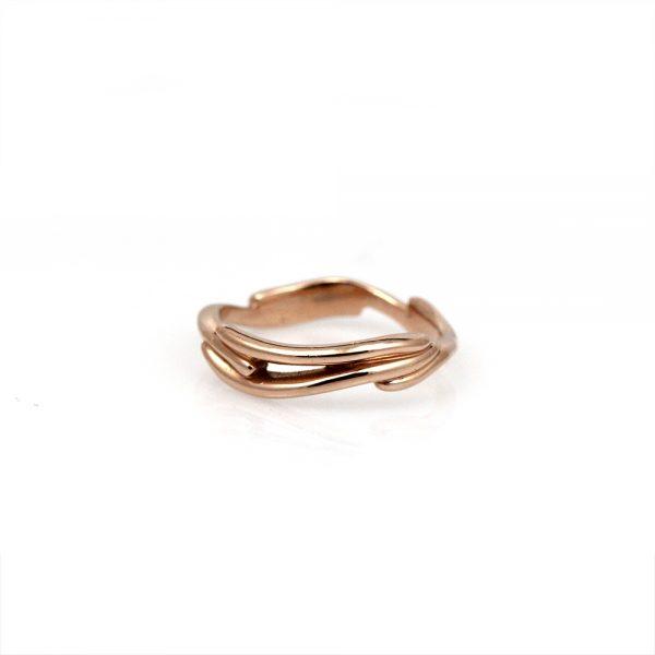 Pippa Jayne Designs 14K Rose Gold Vines Ring