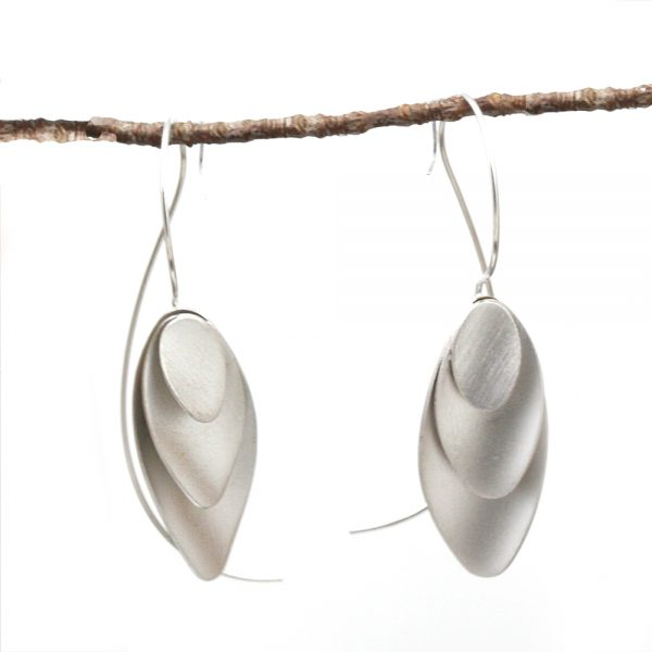 "Kelim Sterling Silver ""Scales"" Earrings"
