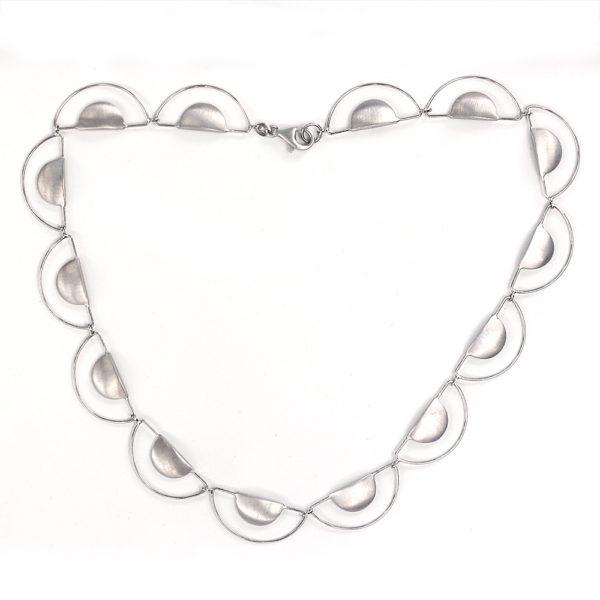"""Kelim Sterling Silver """"Half Moon"""" Necklace"""