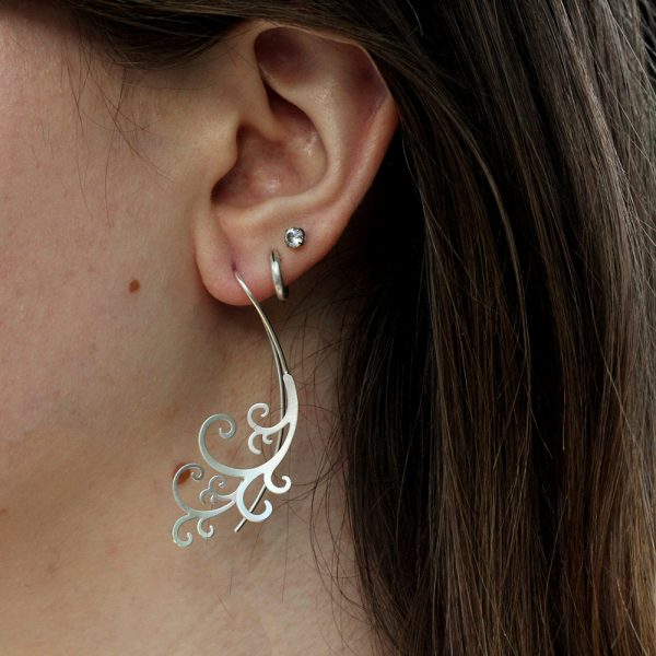Kelim Sterling Silver Scroll Earrings