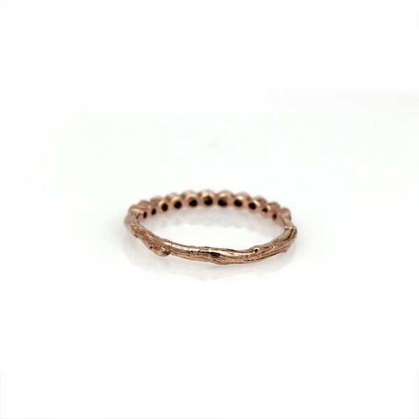 Pippa Jayne Designs 14K Rose Gold Diamond Dewdrops Ring