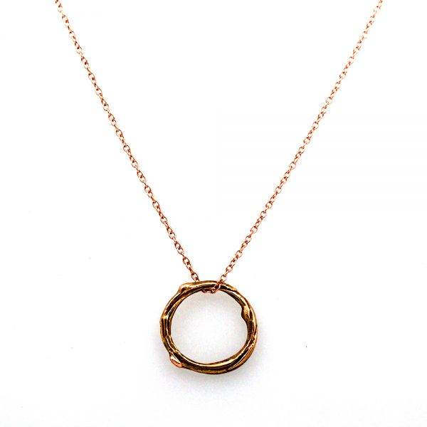 Pippa Jayne Designs 14K Rose Gold Infinity Tiny Twig Necklace
