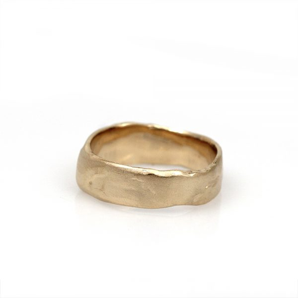 """Pippa Jayne Designs 14K Yellow Gold """"To The Moon And Back"""" Band"""