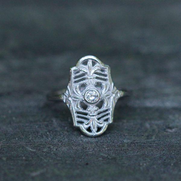 "Hugo Kohl 14K White Gold & Diamond ""Parisian Nights"" Ring"