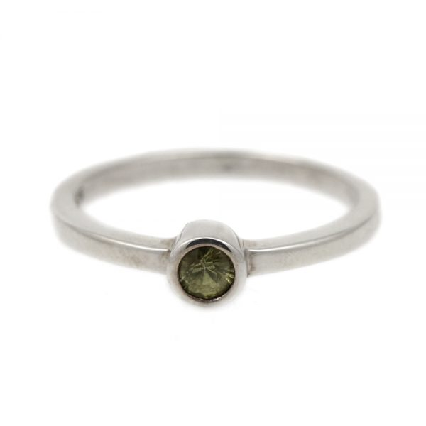 Sterling Silver & Green Sapphire Ring