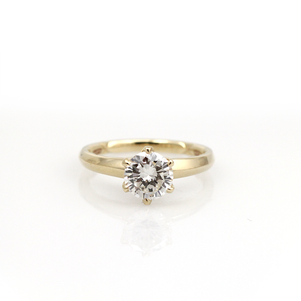 ajaffe engagement ring solitaire yellow gold diamond ethically sourced