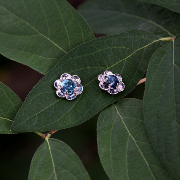 "14K White Gold & Tourmaline ""Buttercup"" Studs"