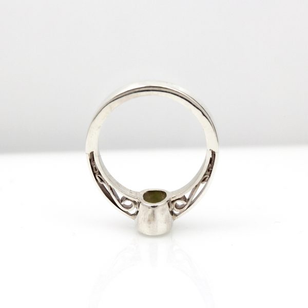 Sterling Silver Peridot Scrollwork Ring