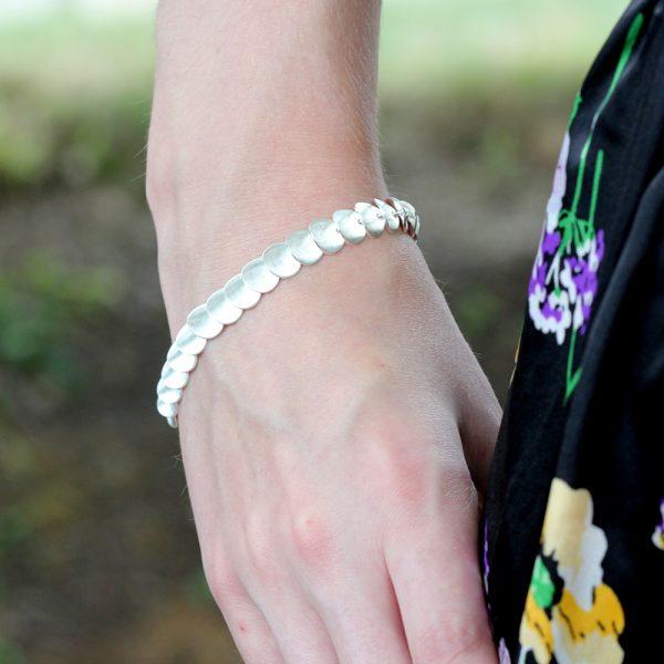 Kelim Sterling Silver Zinnia Petals Bracelet