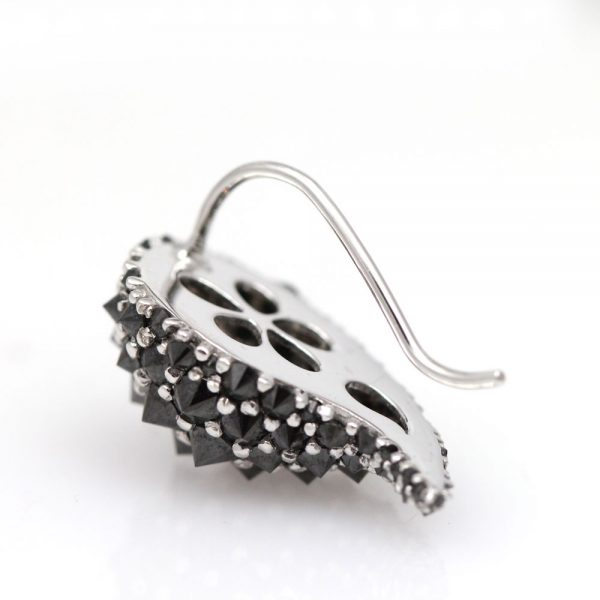 "Arte*Vitta 14K White Gold & Black Diamond ""Cactus"" Ear Climbers"