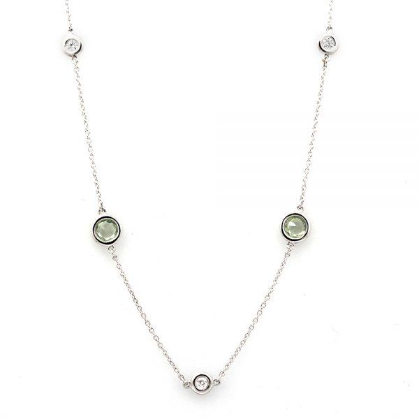 "Arte*Vitta Green Sapphire & Diamond ""Secret Garden"" Necklace"