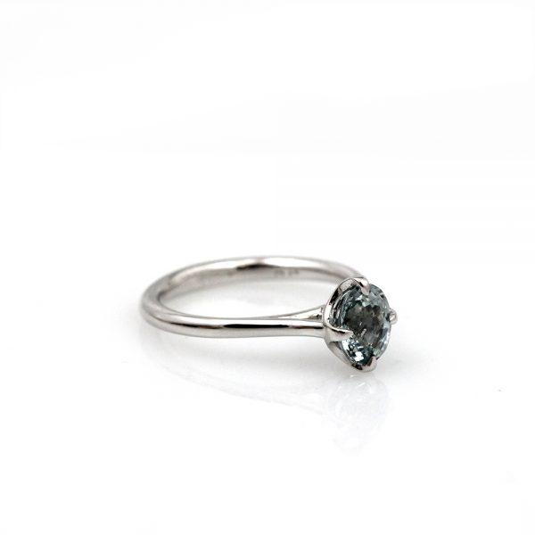 Arte*Vitta Platinum Mint Green Sapphire Engagement Ring