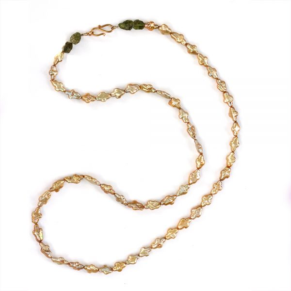 Barton Designs Freshwater Pearl and Peridot Necklace