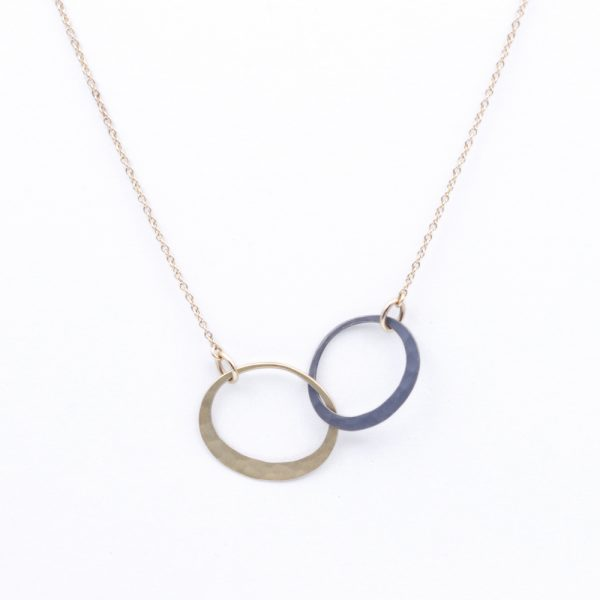 """Toby Pomeroy 14K Yellow Gold & Sterling Silver """"Eclipse Links"""" Necklace"""