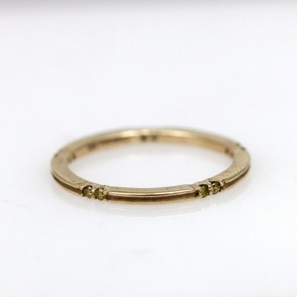 Arte*Vitta 14K Yellow Gold & Diamond Stacking Ring