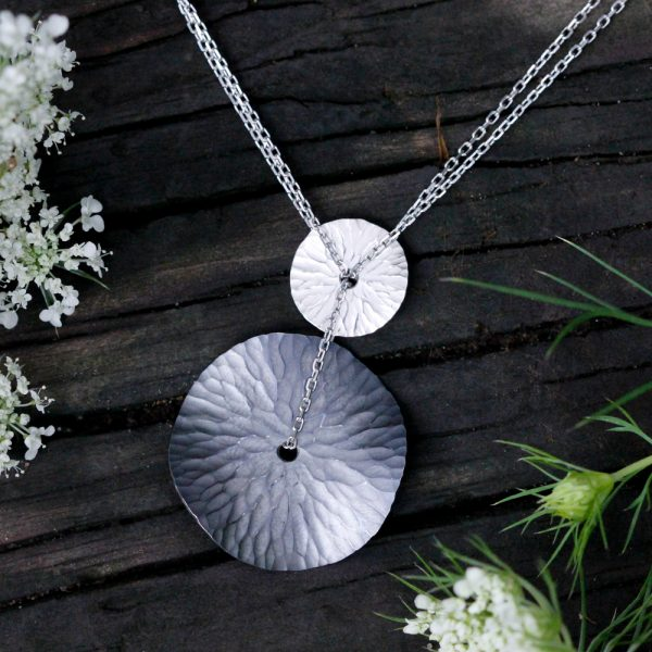 """Toby Pomeroy Eco Silver """"Oasis Medallions"""" Necklace"""