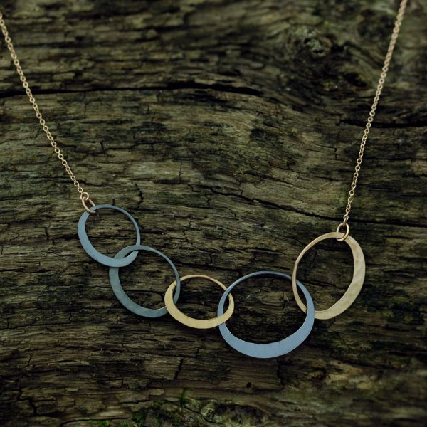 Toby Pomeroy Five Link Petite Eclipse Necklace