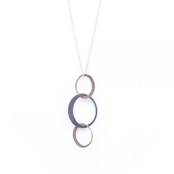Toby Pomeroy Two-tone Petite Eclipse Necklace