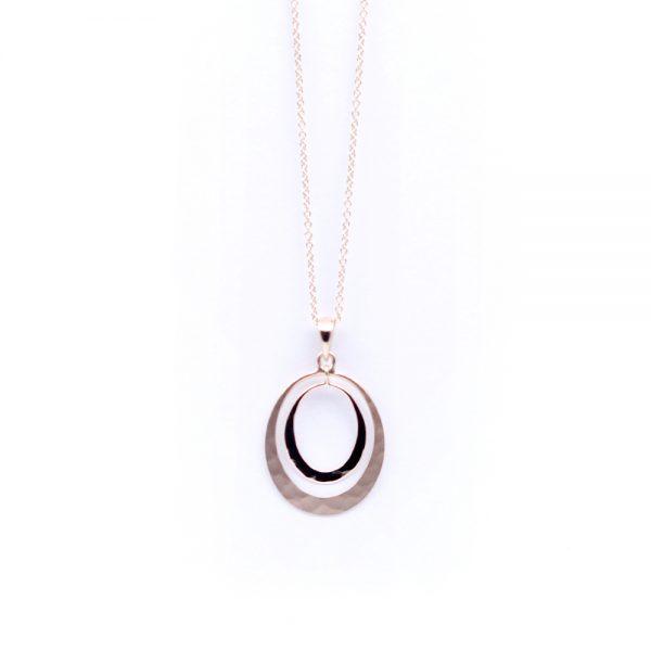 Toby Pomeroy Rose Gold Solar Eclipse Necklace