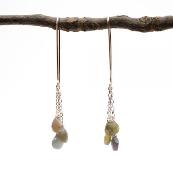 Barton Designs Sapphire Cascade Earrings